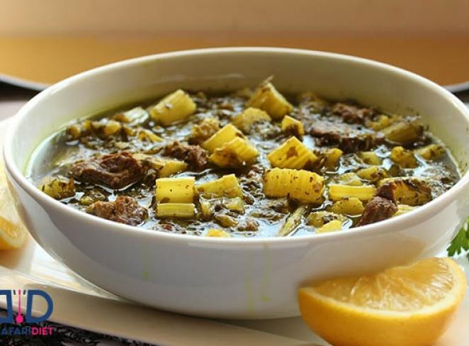 با طرز تهیه خورش ریواس آشنا شوید و آن را بپزید!